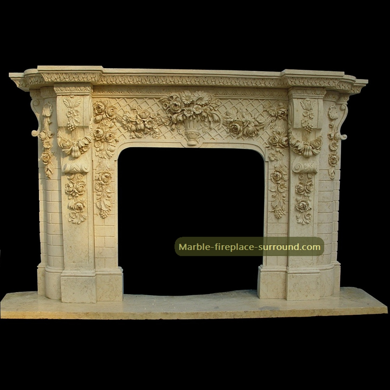 beige-baroque-marble-fireplace-mantels