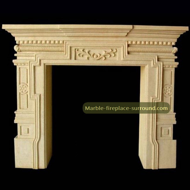beige itlian fireplace