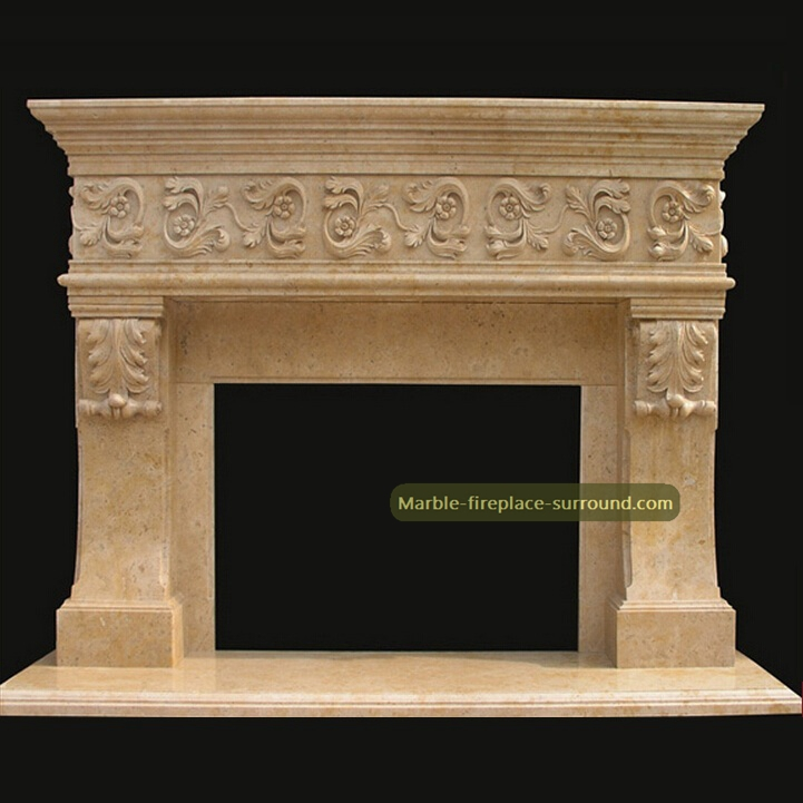 marble fireplace mantel acanthus carvings