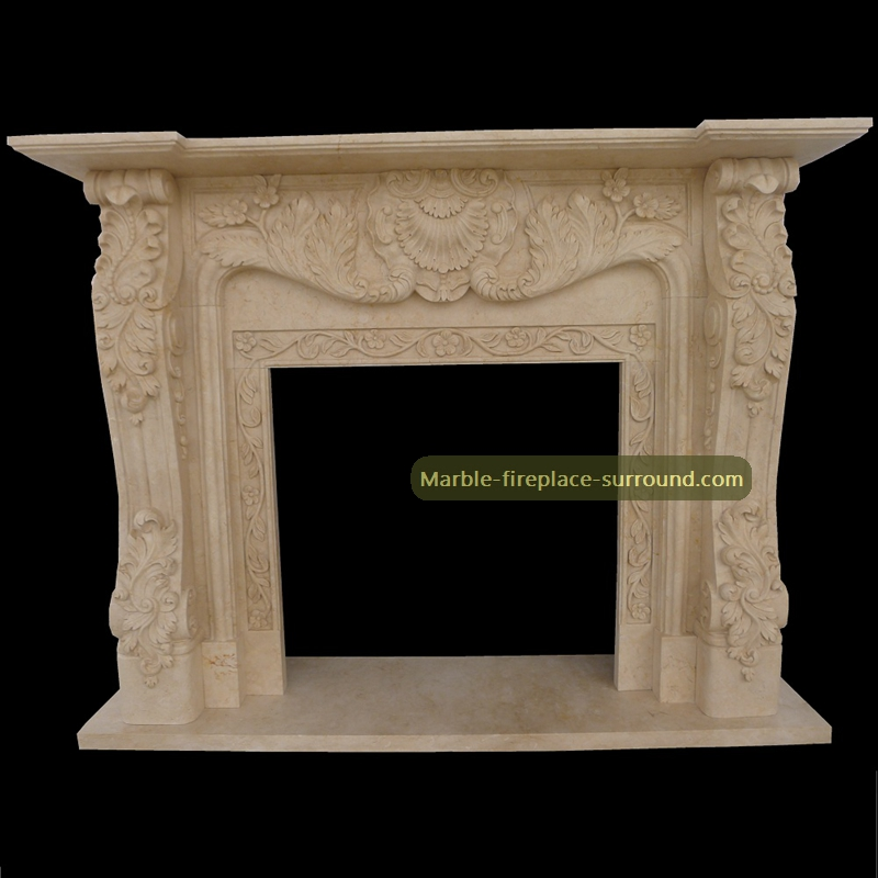 marble fireplace mantel floral patterns