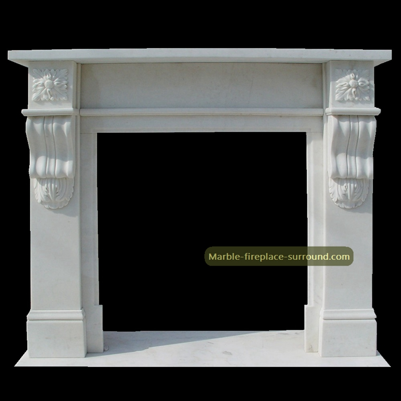 contemporary white marble fireplaces
