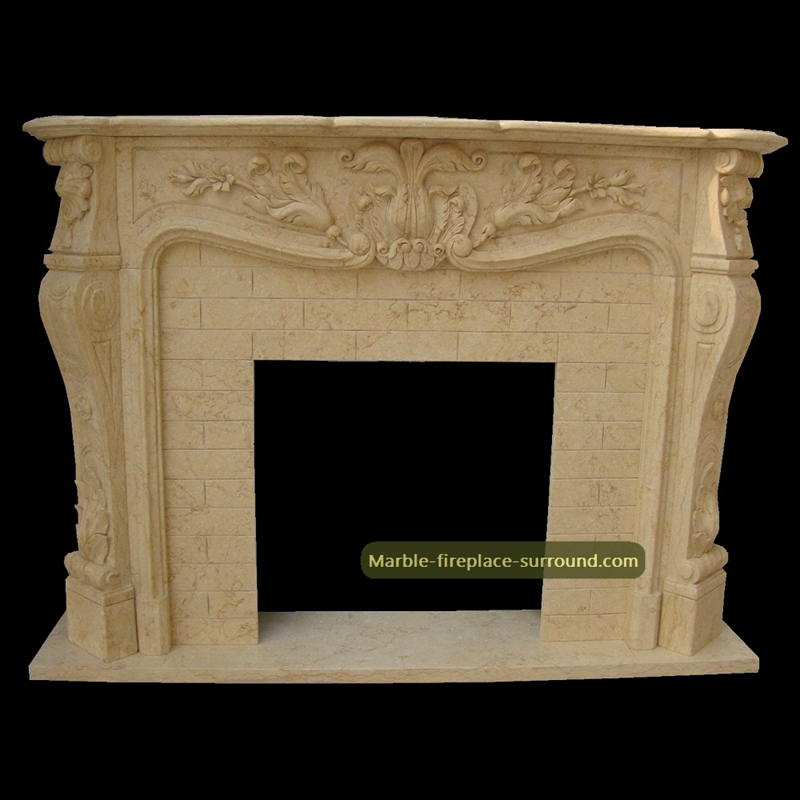 classic antique fireplace mantel brick background