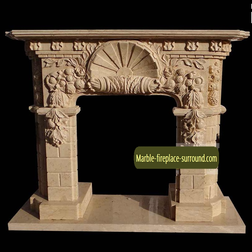 shell carving marble mantels