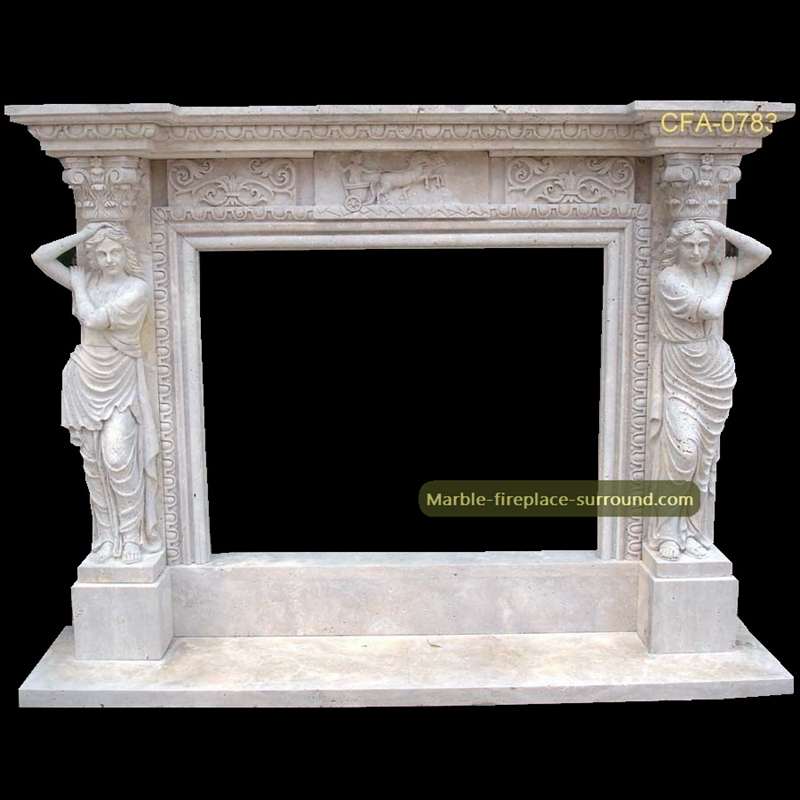caryatid marble fireplace surrounds
