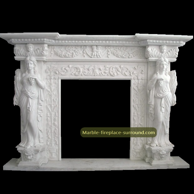 caryatid marble fireplaces