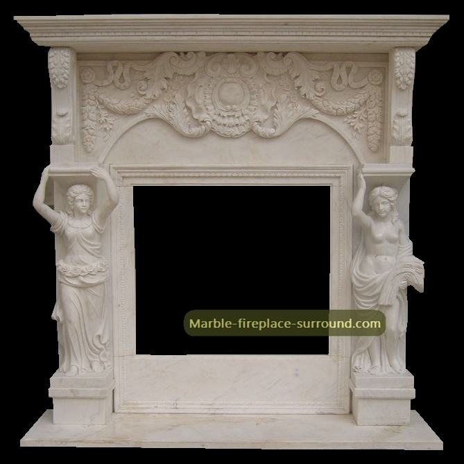 hand carved marble mantels