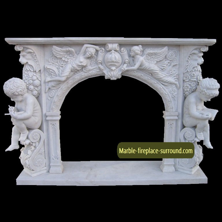 angel fireplace frame