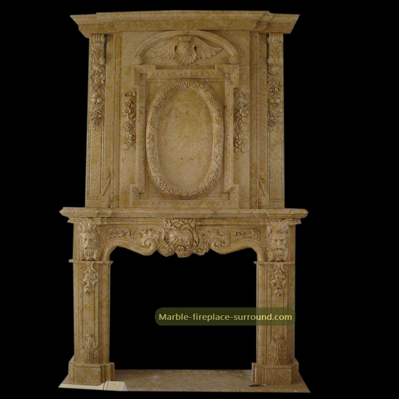 baroque marble fireplace over mantel