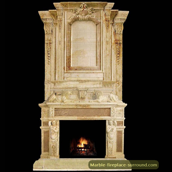 large vintage marble over mantel