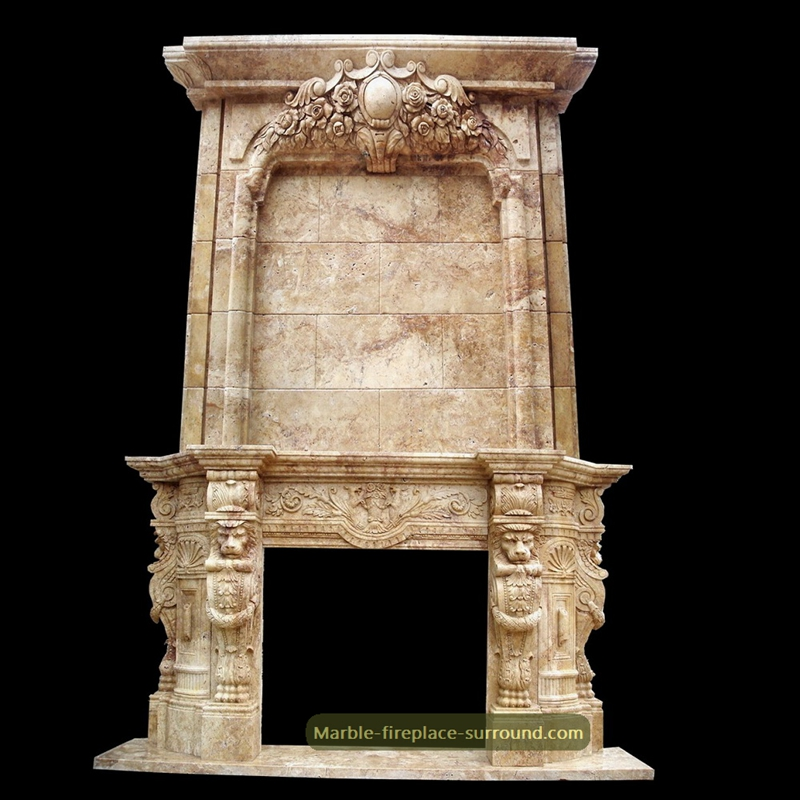 vintage marble surround for fireplace